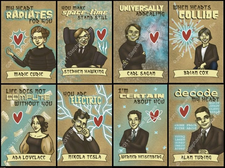 valentine science cards