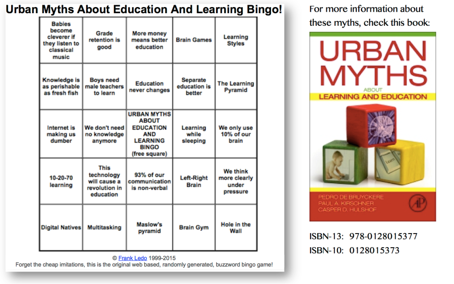 Urban Myths Bingo